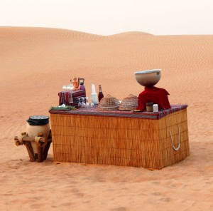 Purveyor of sparkling pomegranate juice, desert snacks and lovely, lovely water, half way up the dune