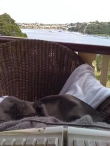 My retreat writing space (upstairs balcony)