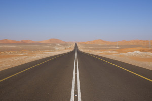 CLICK: All the roads I travelled on were eight-lanes but this is pretty much how it looked...