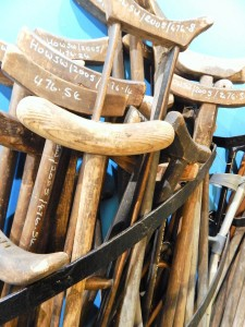Ye olde crutches of those who were healed in the past