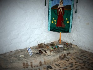 The site where St Melangell's relics are believed to still be buried
